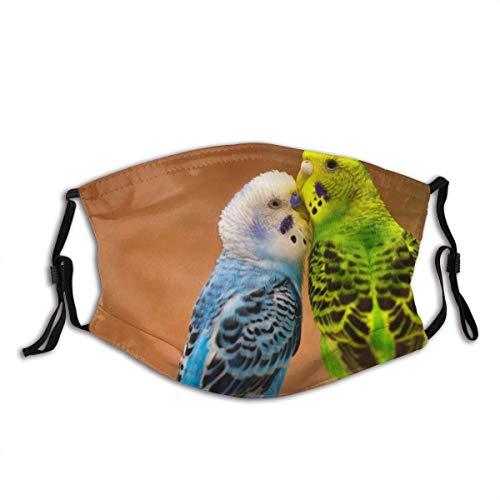 Gesicht Mas-Ke, Wellensittiche Vögel Papageien Wiederverwendbares Tuch Mas-Ke Schützen Sie Mas-Ke Sturmhaube Halbes Gesicht Bandana