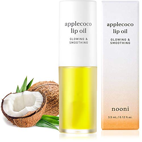 NOONI Applecoco Lip Oil | Korean Lip Oil To Soothe Dry Lips | Skincare, Vegan, Cruelty-free, Gluten-free, Paraben-free, Mineral-Oil free