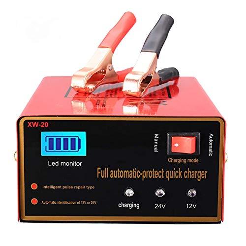 Yangyang Cargador de Baterias de Coche 12V/24V 10A Inteligente Automático Múltiples Puertos USB con Múltiples Protecciones para Coche Motocicletas ATVs RVs Barco