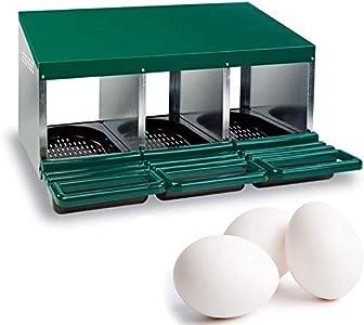 FINCA CASAREJO Ponederos para gallinas + 3 Huevos macizos de Regalo. Ponedero Eco 3 Huecos.