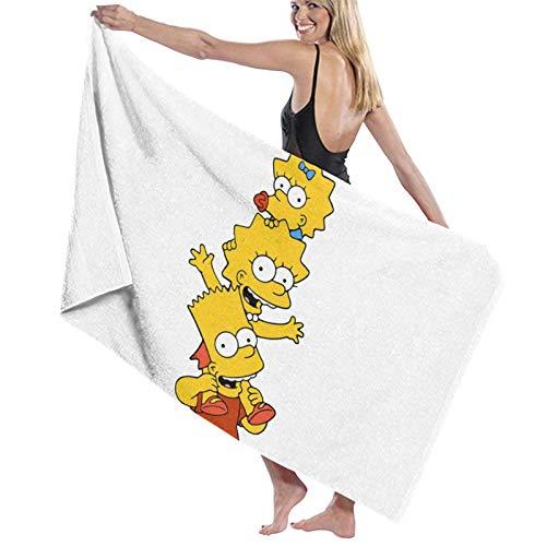ghjkuyt412 Bath Towel,80X130Cm Lisa Simpson Bath Towels Super Absorbent Beach Bathroom Towels For Gym Beach SWM SPA