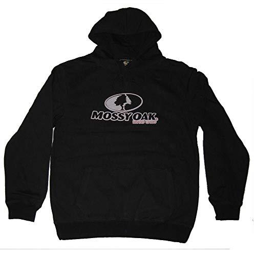 Mossy Oak Men's Stitched Hoodie Black (X-Large)