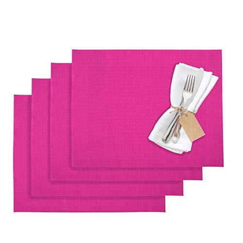 Westmark Tischsets/Platzsets, 4 Stück, 42 x 32 cm, Synthetik, Pink, Saleen Edition: Home