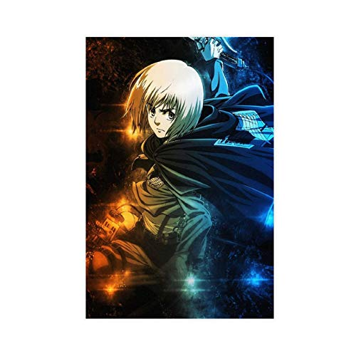 Póster de Ataque a Titan Armin Arlert de anime japonés manga dormitorio personaje póster lienzo para decoración de la pared de la sala de estar, dormitorio decoración Unframe: 40 x 60 cm