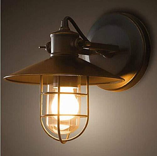 L-YINGZON Aplique de la pared Industrial, aplique de la pared lámpara de noche Retro E27, de hierro negro pared ajustable apliques -D: 27 cm (25 ') * H: 25 cm (9,8') Lámpara de interior decorativo