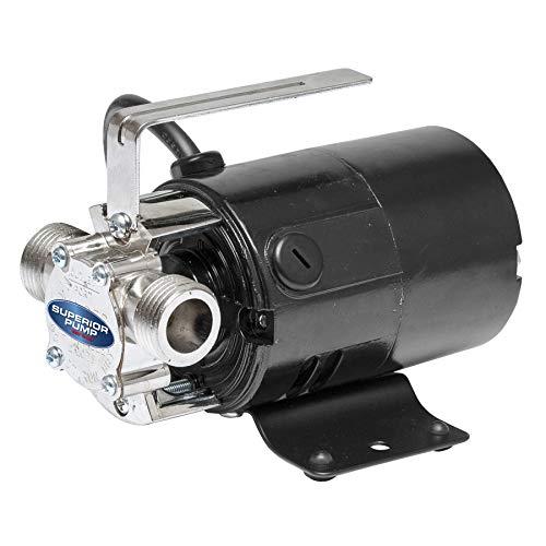 SUPERIOR PUMP 90040 115 Volt Transfer Pump with 6-Foot Suction Hose, Black