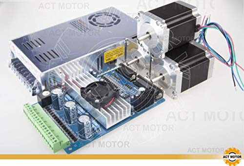 DE-SHIP FREE Nema23 3AXIS Driver Board Kit 23HS8430 269oz-in1.9Nm 76mm + TB6560 + 350W 24V Netzteil CNC OEM ACT MOTOR GmbH