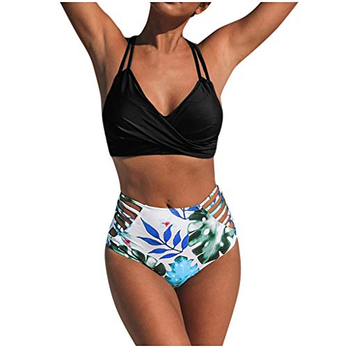 Traje de Baño Bikini Mujer 2020 Bikinis Sexy Push-up con Estampado Floral Brasileños Bañador Ropa de Dos Piezas con Relleno Sujetador Tops y Braguitas riou