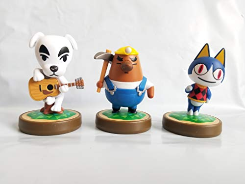 Amiibo Animal Crossing 3-Pack (K.K Slider, Mr Resetti, Rover) bulk pack