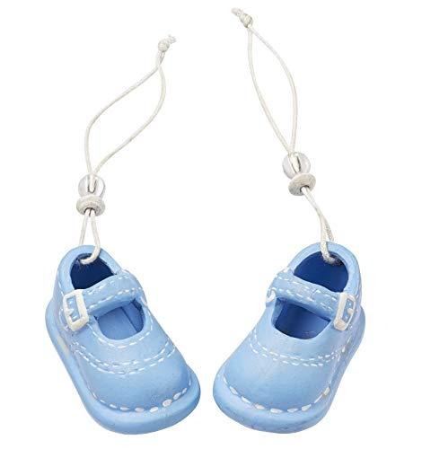 Deko-Figur Baby Schuhe/Schühchen Boy blauTorten-Figur Kuchen-Aufsatz Tisch-Deko Dekoration Baby-Party Baby-Shower Geburt Taufe Junge Geschenk-Idee Geldgeschenk