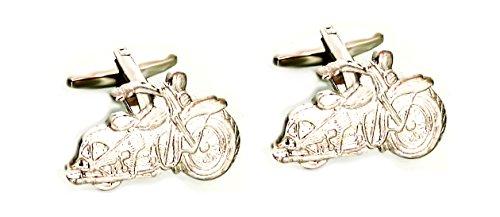 Unbekannt Motorrad Chopper Manschettenknöpfe Bike silbern matt-glänzend inkl.schwarzer Exklusivbox