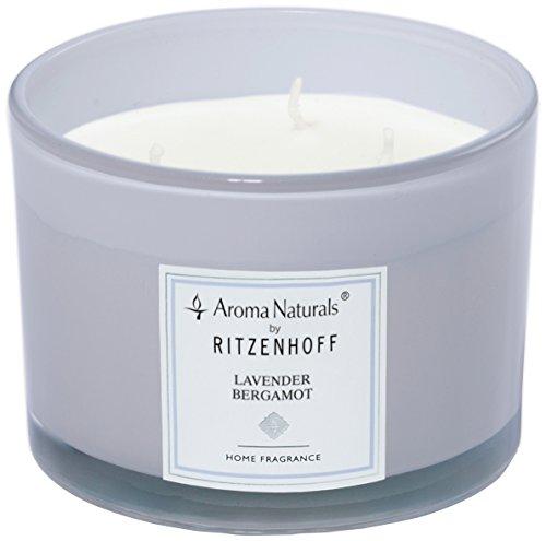 Ritzenhoff Aroma Naturals moderne geurkaars, glas, lavendel, 11 x 11 x 8 cm