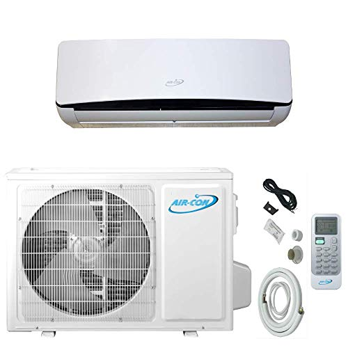 12000 Btu Air-Con Ductless Mini Split Air Conditioner Heat Pump System 18 SEER 110-120V Variable Speed DC Inverter