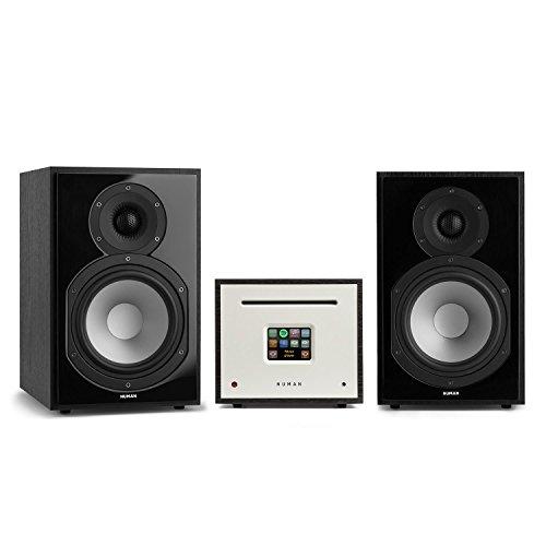 NUMAN Unison Reference 802 - Internet Stereoanlage, Verstärker, Lautsprecher, 2 x 40 W, Internetradio, Spotify-Connect, WLAN, UKW, DAB+, TFT-Farbdisplay, inklusive Fernbedienung, schwarz