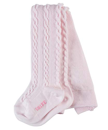 FALKE FALKE Baby Strumpfhosen Cable - Baumwollmischung, 1 Stück, Rosa (Powder Rose 8902), Größe: 62-68