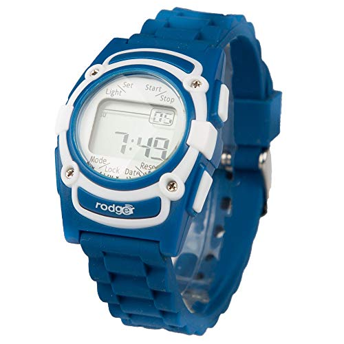 New Rodger Kids Vibration Reminder Watch - Royal Blue Band - Perfect for Bathroom, Pill or Homework Reminder