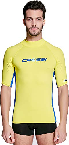 Cressi Rash Guard Man, Hombre, Amarillo/Azul, M