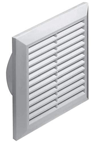 Lüftungsgitter Abschlussgitter Insektenschutz rund Ø 125 mm weiß ABS Gitter T83