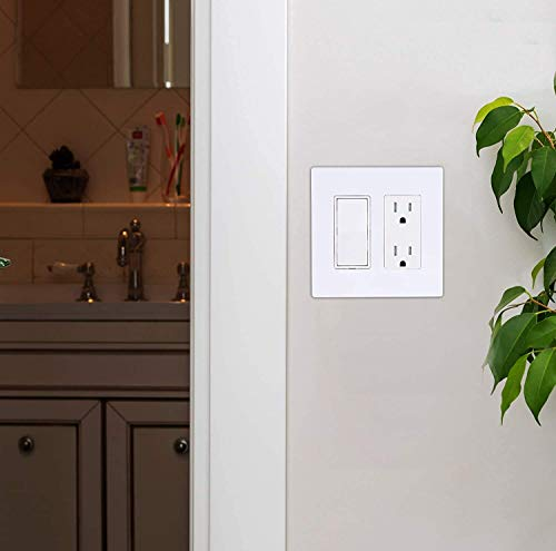 Cloudy Bay Dimmer Switch and Electrical Outlet Wall Plate(10 Pack)