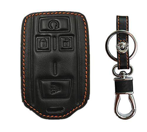 KAWIHEN Leather Key Fob Cover Compatible with M3N-32337100 22881480 Chevrolet Chevy Colorado Silverado 1500 2500 HD 3500 HD GMC Canyon Sierra 1500 2500 HD 3500 HD