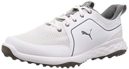 PUMA Grip Fusion Sport 2.0, Scarpe da Golf Uomo, Bianca White-Quiet Shade, 44.5 EU