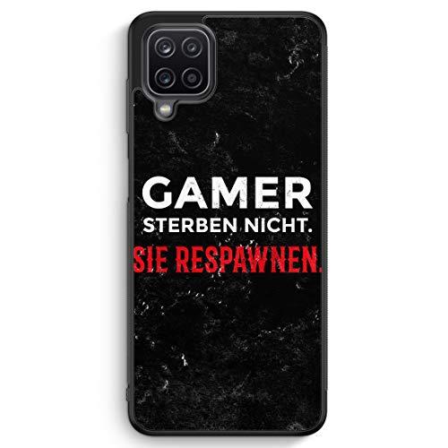 Gamer Sterben Nicht - Sie Respawnen - Silikon Hülle für Samsung Galaxy A12 - Motiv Design Spruch Jungs Männer Cool Lustig Witzig - Cover Handyhülle Schutzhülle Hülle Schale
