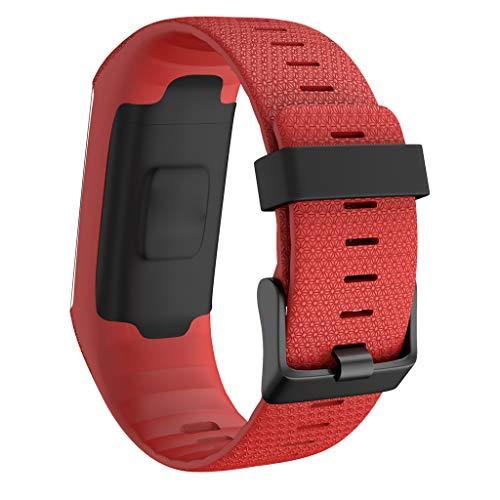 Armband für Polar A370 A360, Amuse-MIUMIU Mode Sport Silikon Uhrenarmband Smart Watch Band Armband Schnellverschluss Einstellbar Atmungsaktiv Band für Polar A370 A360 (Rot)
