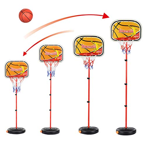 TopBau Basketballständer, 80-200cm Basketballkorb Kinder Einstellbare Basketballkörbe mit Ständer Basketballkörbe mit Ball für Kinder und Jugendliche Geeignet