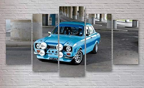 QMCVCDD 5 Pieza Cuadro En Lienzo 5 Piezas Cuadros 5 Partes Modernos Cuadros Impresión Impresión Artística Imagen Gráfica Lienzo XXL Ford Escort Cosworth