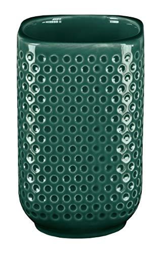 Kleine Wolke Mila Accessoires - Ciotolina in gres con Dettagli in Smeraldo 75 x 110 mm