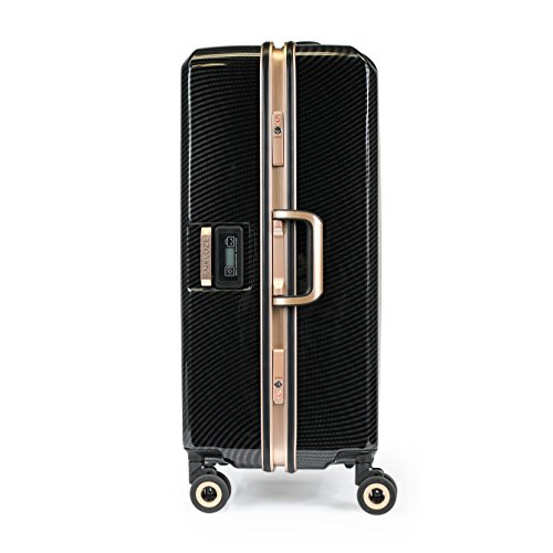 Enkloze X1 Weight Watcher Suitcase Zipperless Self Weighing Carbon Black/Rose Gold TSA Approved 100% PC Carbon (28')