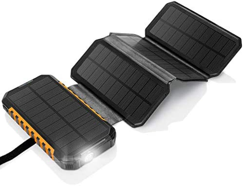 Solar Charger 26800mAh Power Bank PD18W 4 Solar Panel Portable Charger External Battery Pack product image