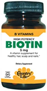 Country Life Bonus Pack Super Biotin 5Mg Tablets, 120 Count