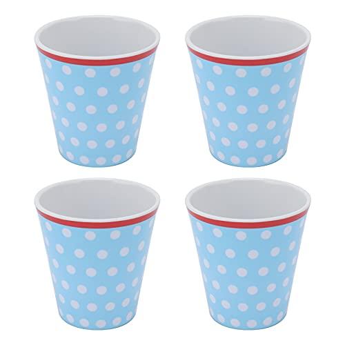 Raguso Taza de Agua 4 Piezas innovadora Taza de melamina Taza de Bebida de Porcelana de imitación Taza de Bebida Taza para Beber Taza de Leche para Restaurante Escolar