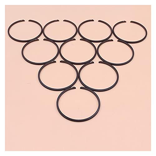Ajuste perfecto 10pcs / lote anillos de pistón para C-Heawaw Strimmer Cobertura Trimmer Pincel Pieza 36mm x 1.5mm Buena resistencia a la abrasión