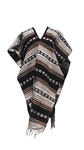 Sharpshooter Eastwood Style Texmex Spaghetti Western Poncho Brown