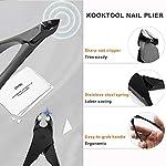 Gentleman's Choice Nail Clippers KOOKTOOL Nail Cutter Set, All Black Carbon Steel Made, for Ingrown Fingernail & Toenail… 6