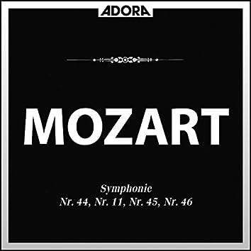Mozart: Symphonien No. 44, No. 11, No. 45 und No. 46