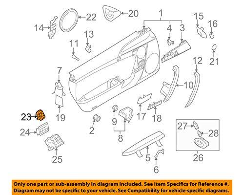 Porsche 997 613 241 01A05, Door Mirror Switch