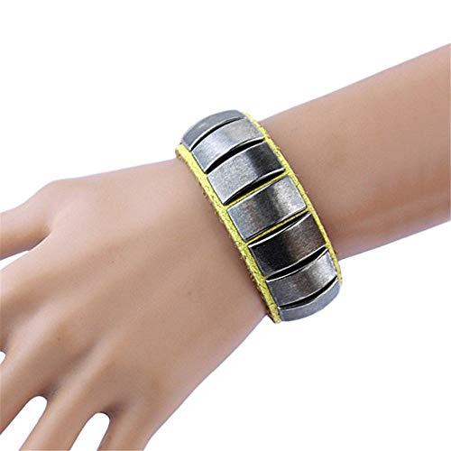 CaoDquan Heren Armband Zilveren Oorbellen Armband Lederen Polsband Lederen 80s-stijl Glam Verjaardag Peng Ke Gete Gepersonaliseerde Heren Armband