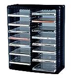 ProfiOffice Media Rack MR-52S, Regal zur Aufbewahrung von 52 CD mit Hüllen, Ständer mit Halter, aufhängbar (07013)