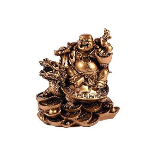 lachineuse Bouddha Rieur sur Dragon Tortue - Chance, Prospér