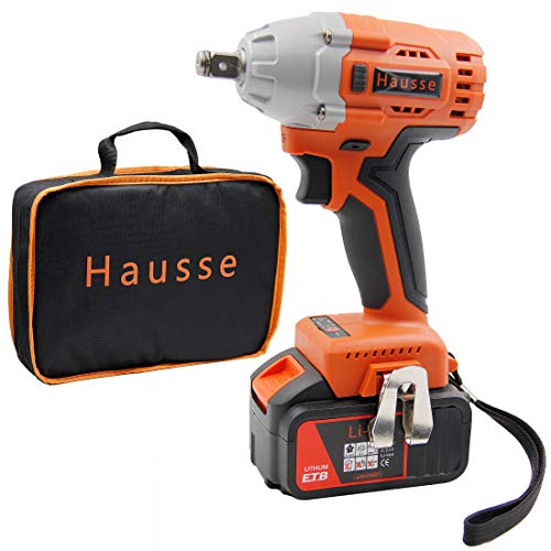 Hausse Cordless Power Impact Wrench 20V 1/2 Inch with Rechargeable Lithium Battery,...
