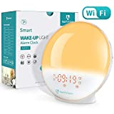 heimvision Sunrise Alarm Clock, Smart Wake up Light Work with Alexa, Sleep Aid Digital Alarm Clock with Sunset Simulation, Snooze/FM Radio /7 Natural Sounds and 4 Alarms Supported for Adults & Kids