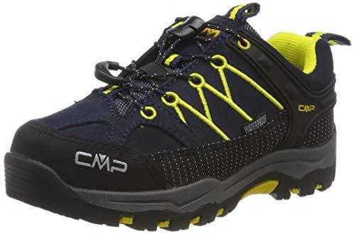 CMP Unisex-Kinder Kids Rigel Low Shoes Wp Trekking-& Wanderhalbschuhe, Blau (B.Blue-Zafferano 11nd), 28 EU