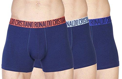 CR7 Cristiano Ronaldo Herren hautenge Boxershorts, Schwarz-Blau (2626), Gr.- L