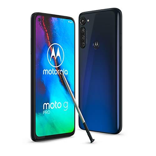 """Motorola Moto G Pro - Smartphone de 6,4"""" con lápiz táctil incorporado, 4GB RAM + 128GB de ROM, dual Sim - Color Mystic Indigo [Versión ES/PT]"""