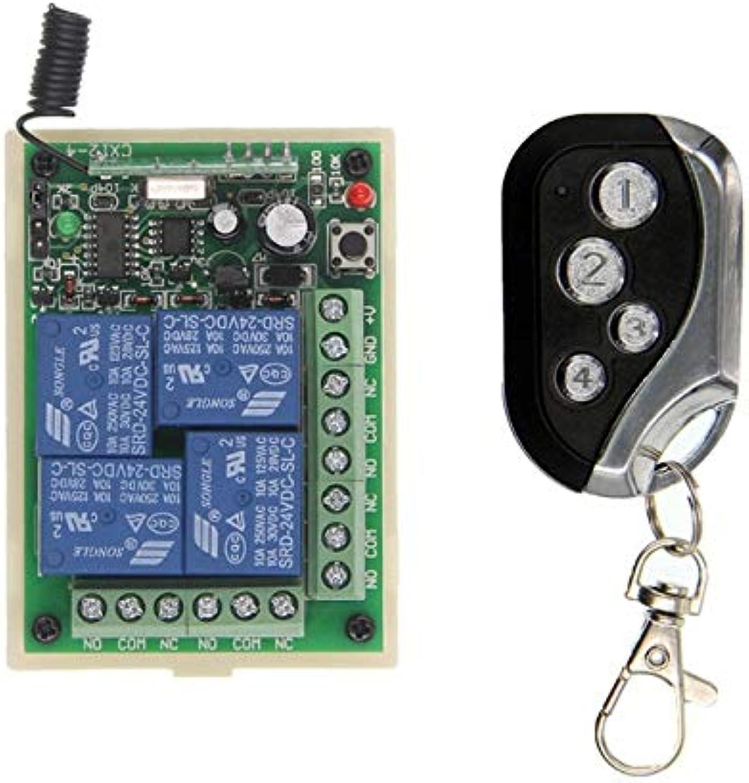 DC 12V 24V 4CH 4 CH 10A Wireless Remote Control Switch Relay Output