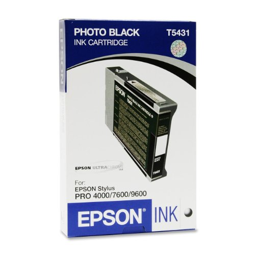 Epson T543100 Photo Black inktcartridge voor printer (foto zwart, Stylus Pro 7600, 1-100 mm, 60 mm, 130 mm)