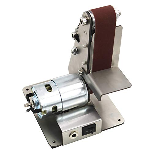 Kecheer ROEAM Mini Elektrische Bandschleifer,Vertikale Sandbandmaschine, Mini-Sandbandmaschine, DIY-Polier- und Poliermaschine, Tischschärfmaschine mit festem Winkel